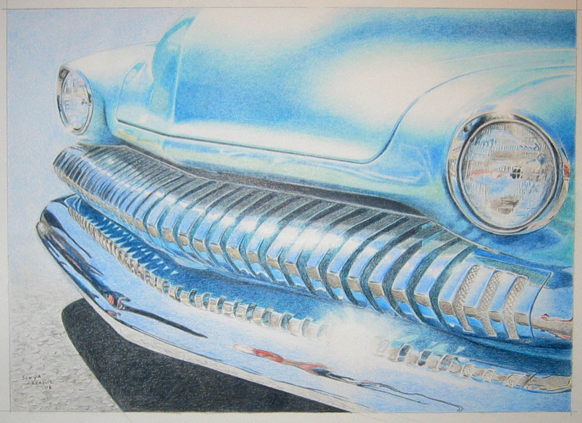 artist: <ARTIST_NAME_META> <ALT_TAGS> Car - colored pencil