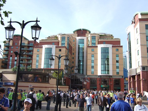 Fans outside Stamford Bridge