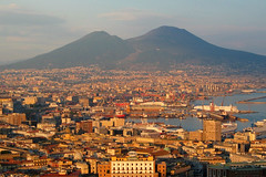 Sunset in Naples (Thomas Reichart ) Tags: city sunset evening nice naples vesuvius