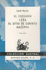 Lord Byron, El Corsario. Lara. El sitio de Corinto. Mazeppa.