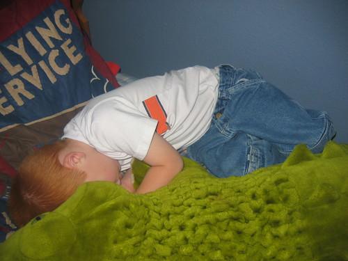 AJ sleeps