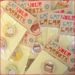 SOLD OUT - Buttons! (*eatyourcarrots) Tags: