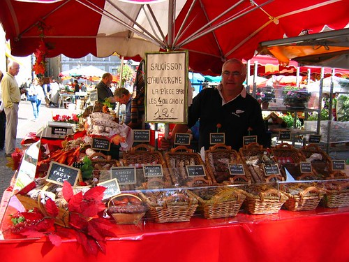 Sausages of all shapes, sizes and flavours at the market in Cahors. Photo: John Purvis