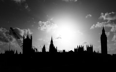 The Houses of Parliament (Ch@rTy) Tags: uk bridge england bw monochrome westminster contrast photography top20bw construction place bright photos famous landmarks housesofparliament places landmark charlie government contrejour contrasty tyack charlietyackcom