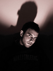 (smail) Tags: boy shadow portrait guy face sepia dark eyes friend head ismail portre ahmet glge sepya ordu artlibre flikir