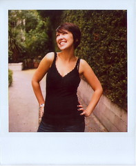 Marcy, Getting Her Pose On (Lou O' Bedlam) Tags: portrait polaroid losangeles marcy polaroid680 louobedlam 10106photoshoot lounoble louobedlamcom