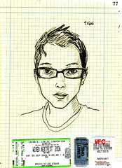 me (arimoore) Tags: gay woman selfportrait art sketch drawing sketchbook draw queer