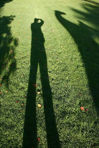 Celle - My shadow on stilts!
