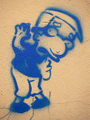 Milhouse (BR3ITN3R) Tags: street streetart berlin art graffiti stencil simpsons milhouse