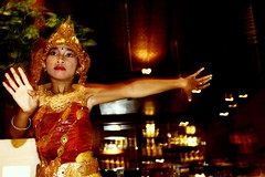gadis (Farl) Tags: travel bali colors girl indonesia dance student faith religion performance culture tradition hindu hinduism maiden nusadua tari gadis 2ndcurtainsync pantaimengiat