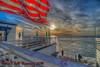 Long May She Wave (Michael F. Nyiri) Tags: malibuca malibufishingpier california flags americanflag beach ocean sky sunrise