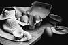 (nuriapase) Tags: blancinegre bodegons food stilllife egg ou oeuf blackandwhite black white art creative monocrome texture experimental