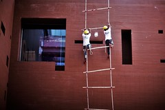 May BERGER Save You ! (N A Y E E M) Tags: workers building ladder painter afternoon colors courtyard hotel radissonblu chittagong bangladesh availablelight berger