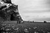 Out of the Wind (RoamingTogether) Tags: atlanticocean basalt blackandwhite europe iceland nikon nikon20mm28 nikond700 ocean reynisfjara