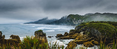 Punakaiki Pancake Rocks (tcmealy) Tags: beach shore fog new zealand newzealand pancake rocks punakaki paparoa national park travel nikon d7200