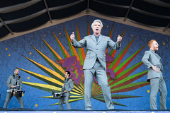 David Byrne at the New Orleans Jazz and Heritage Festival on Sunday, April 29, 2018