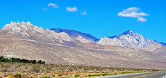 Where the Sierra Nevada Begins, Hwy 395, CA 2015 (inkknife_2000 (9 million views)) Tags: easternsierranevada california usa landscapes mountains snow shadowsonmountains dgrahamphoto skyandclouds shadows trees fences cahwy395