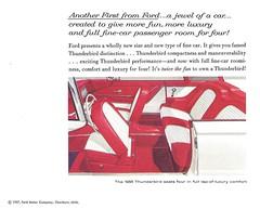 1958 Square Bird (Hugo-90) Tags: 1958 ford thunderbird tbird car auto automobile personalluxury ads advertising brochure