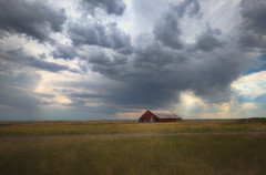 *** (artvbal) Tags: montana sky clouds power unitedstates barn rural field light artwork landscape photoart summer 2017 north moody
