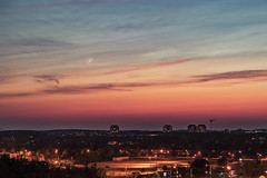 Warmish cool (Stefen Acepcion) Tags: sky bluesky colour vibrant landscape urban yellow afternoon dusk sunset canada oakville ontario tree house light contrast