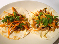 Vaguely Vietnamese Slow Cooker Pork Tacos (ljstubbs) Tags: asian asianpear cabbage carrots cilantro cucumber fishsauce food fusion garlic ginger hoisinsauce maindish onion porkshoulder recipe sesameoil srirachasauce tortillas