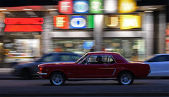 Mustang (Kim Drotz) Tags: mustang 1964 red ford cruising street classic car dark speed helsinki helsingfors