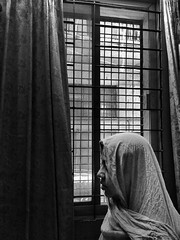 Ramadan Mubarak (Shahrear94) Tags: bnw blackandwhite monochrome monochromatic mother veil cellphone xiaomi light prayer ramadan muslim namaz blackwhite concept memoirs memory moment dhaka