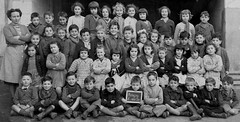 Class photo (theirhistory) Tags: children kids boys girls school class group form teacher trousers shorts jacket wellies shoes rubberboots