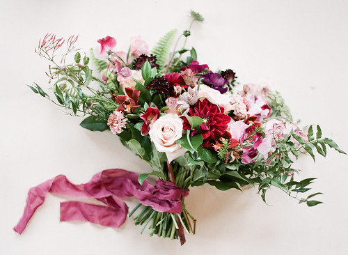 "Dahlia, Sweet Pea, & Jasmine Vine Bridal Bouquet • <a style=""font-size:0.8em;"" href=""http://www.flickr.com/photos/81396050@N06/27410828377/"" target=""_blank"">View on Flickr</a>"