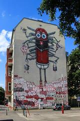 Swiss Made (JuliSonne) Tags: streetart urbanekunst mauer wall graffiti colors scene urban pasteup stencil street berlin muralfestivalberlin mural theonetruth swissmade
