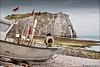 étretat (heavenuphere) Tags: étretat lehavre seinemaritime normandie normandy france europe landscape pebble beach chalk cliffs natural arch englishchannel english channel lamanche view sea water old fishing boat 24105mm
