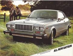 1979 Datsun 810 (Hugo-90) Tags: datsun nissan ads advertising brochure 810 bluebird 240 1979