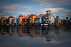 Small colorful houses (A.Dissing) Tags: groningen white black art light dark contrast a7 a7ii a7m2 sony anders dissing masterpiece super detail fantastic good positive photo pixel mm creative beautiful color composition moment europe artistic other danish denmark danmark different exposure enjoy young unique weather scene awesome dope angle perfect perspective interesting flickr netherlands holland colorful tiny house houses small symmetrical