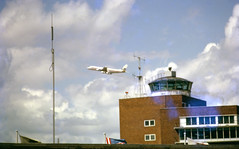 img120 (foundin_a_attic) Tags: aircraft plane jal japan airlines dc8 douglas lap lhr london heathrow control tower airport