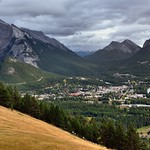 Banff While Nestled Amongst the Mountain Peaks of the Canadian Rockies thumbnail