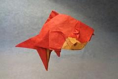 Golden Fish (mrmicawer) Tags: papiroflexia origami papel pez dorado golden fish sea mar