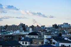 Morning Mood (Pop_narute) Tags: morning sky sun light mood cityscape urban life cloud city tokyo japan skyline bird