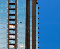 BALCONIES IN THE BLUE -500932- (Terry Frederic) Tags: buildings canon5dmkiii canonef24105mm lightroom614processed longexposure oregon photoshop portland sharpener2013 terryfrederic usa windows apartments bluehour