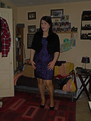 Purple dress (Misses Magpie) Tags: shinytights shinypantyhose tanpantyhose tantights pantyhose tights