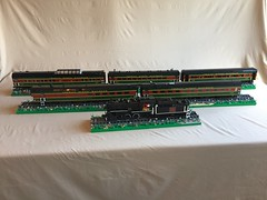 Conway Scenic Railroad (Dawson Santoro) Tags: hampshire new brick model black green red dark cars car passenger locomotive steam 7470 national canadian train railroad scenic conway lego