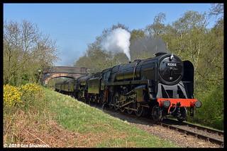No 92203 Black Prince No 90775 The Royal Norfolk Regiment 22nd April 2018 North Norfolk Railway Steam Gala
