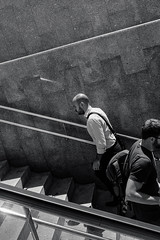 _DSF1748 (jose luis asensio) Tags: barcelona architecture blackandwhite building catalonia city construction eixample europe male man people publictransportation spain stairway street subway transportation urban