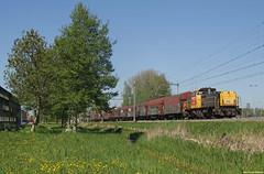 20180505 DBC 6461 + staal, Zaandijk (Bert Hollander) Tags: zaandijkzaanseschans zzs dbcargo loc 6461 dloc locomotief serie 6400 mak glgr staalwagens type shimmns lente zonnig goederentrein cargo dbc trein 61606bvhcawhv