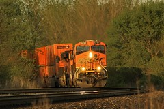 Westbound and Down (matthewspika) Tags: bnsf illinois freight train spring sunset