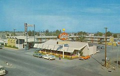 Sambo's Restaurant (1967) (Brett Streutker) Tags: restaurant cafe diner eatery food hamburger cheeseburger eat fast macdonalds burger vintage colonel sanders kentucky fried chicken big mac boy french fries pizza ice cream server tip money cash out dining cafeteria court table coffee tea serving steak shake malt pork fresh served desert pie cake spoon fork plate cup drive through car stand hot dog mustard ketchup mayo bun bread counter soda jerk owner dine carry deliver monochrome people photo