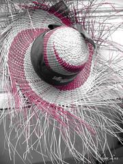 Sombrero de Palma (Erkad Lux) Tags: monochrome pink hat typical gthumb gimp nicaragua palma
