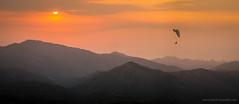 paraglider over Minca (David_Passerat) Tags: colombia landscape minca mountains nature orange panoramic paraglide paragliding parapente southamerica sunset valley