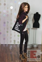 cloth bag for dolls (Frau_E.2017) Tags: fraue handmade dollfashion fashiondollapparel fr2 nuface2 barbie madetomove clothbag