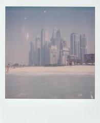 Beach for One (o_stap) Tags: instantfilm analog nofilter keepfilmalive ishootfilm dubaimarina uae dubai polavoid polaroid600 polaroid