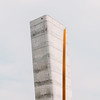 (matthiaswerner) Tags: sachsen sachsenanhalt nebra himmelsscheibe beton concrete tower aussichtspunkt pov poi canon 50mm lightroom vsco fuji 400h adobe minimal minimalism sky himmel clouds wolken grey vlue blue orange simpel siple simple
